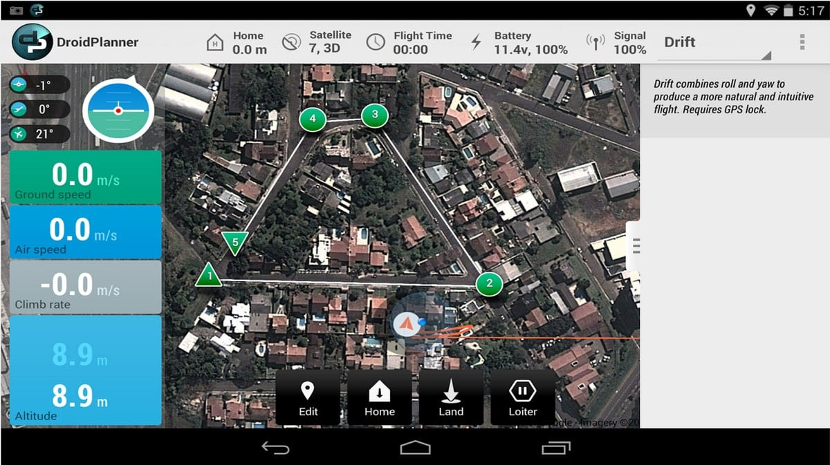 DroidPlanner 2.0 beta screenshot