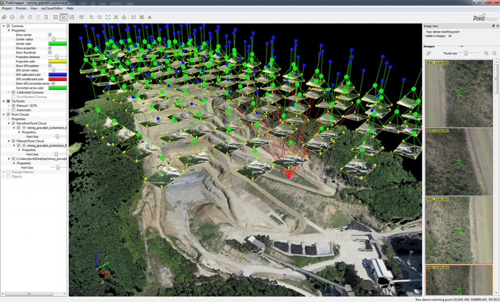 Pix4D Mission Planner Pixhawk calibration carriere georeferencement