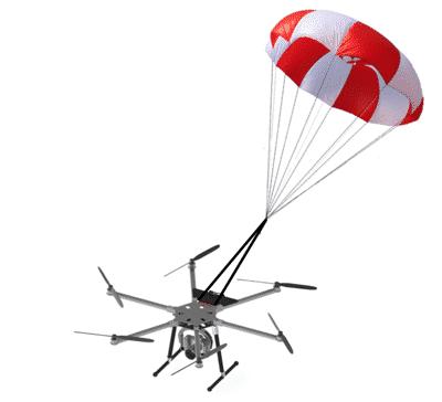 Parachutes drone