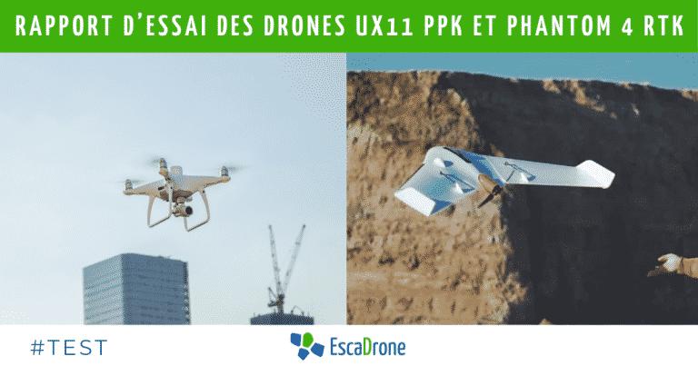 Rapport d'essai des drones UX11 PPK et phantom 4 RTK