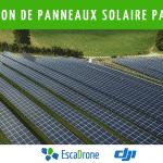 Inspection de panneaux solaires par drone